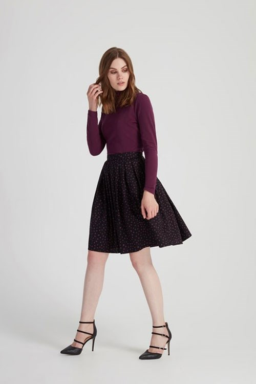 Selma Flared Skirt in Black