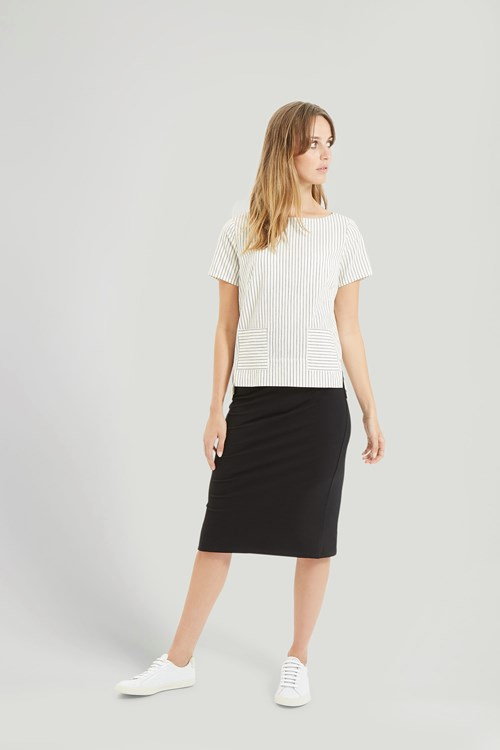 Tammy Pencil Skirt in Black from People Tree