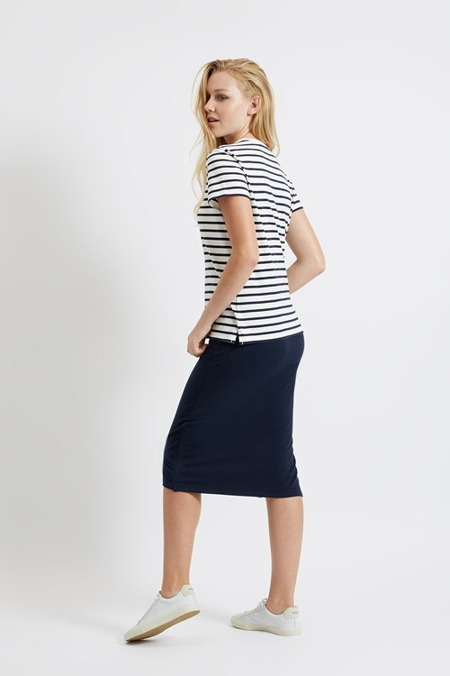 Tammy Pencil Skirt in Navy from People Tree