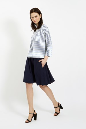Tyler Jersey Skirt in Navy