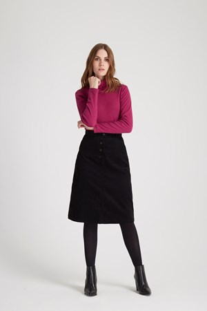 Uma Corduroy Skirt  in Black