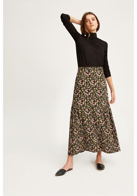 V & A Tulip Print Ruffle Skirt from People Tree