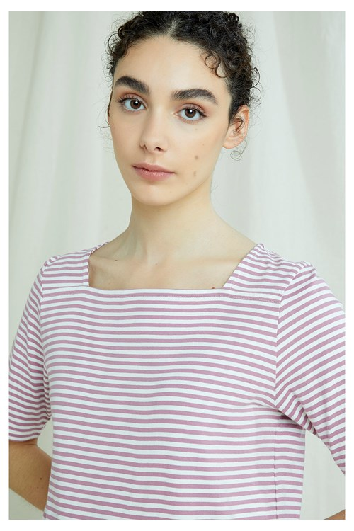Abigail Stripe Top In Pink