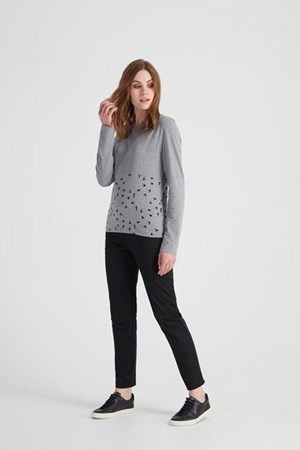 Adeline Top in Grey melange
