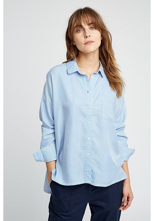 Alice Stripe Shirt in Blue