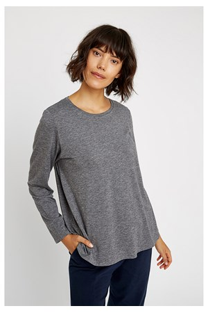 Amara Top in Grey Melange