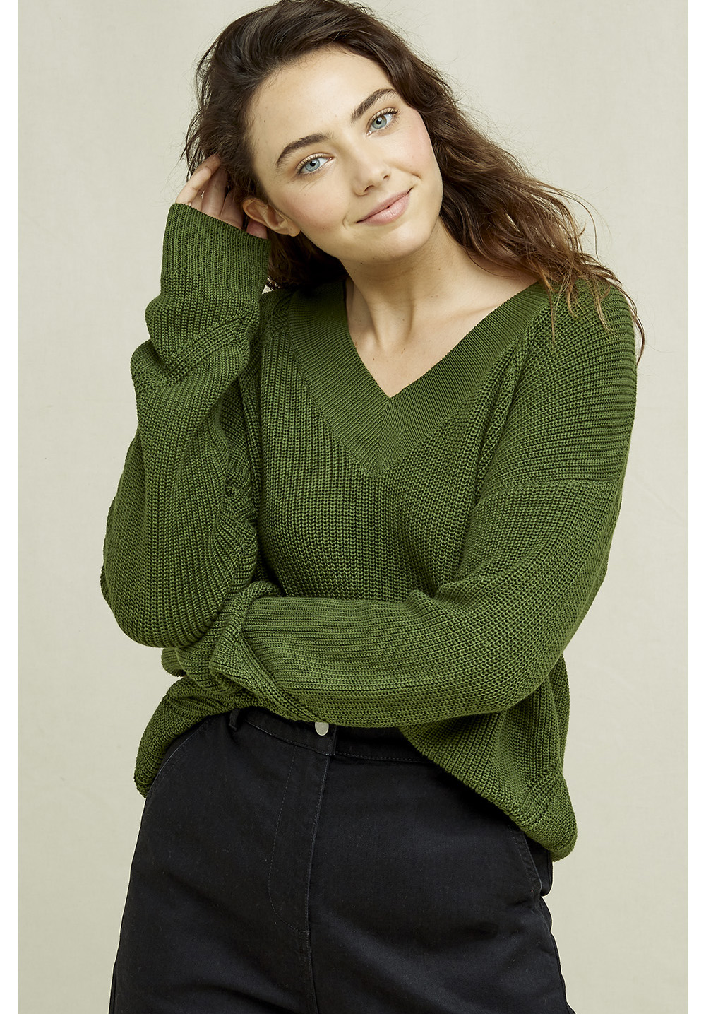 People Tree Annelisse V-neck Jumper