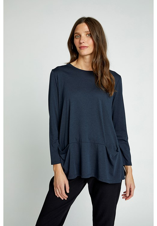 Ava Top in Navy