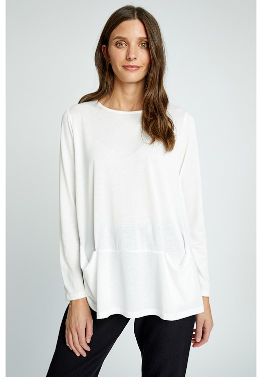 Ava Top in White from People Tree
