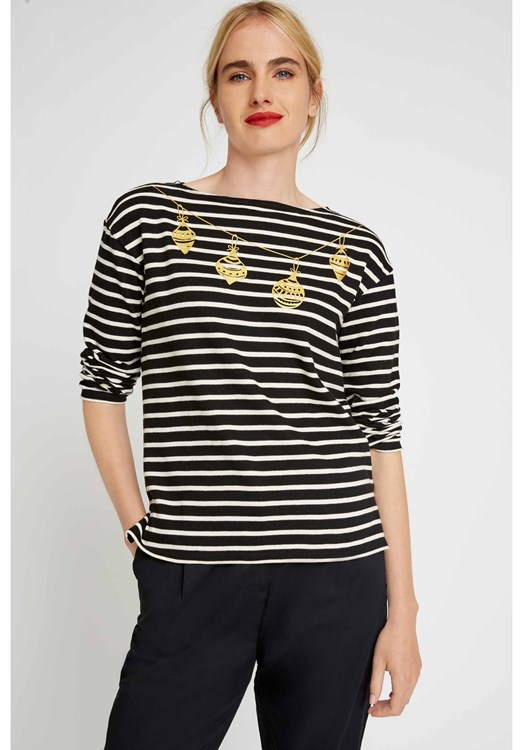 Bauble Stripe Top