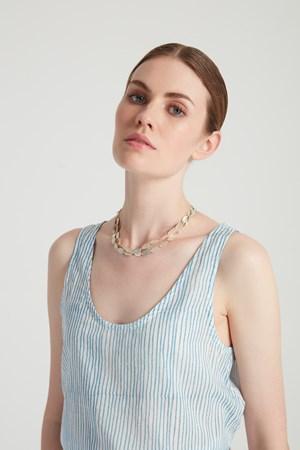 Block Stripe Top in Blue