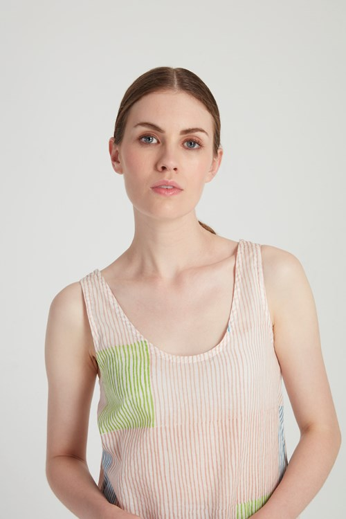 Block Stripe Top in Multi Coloured