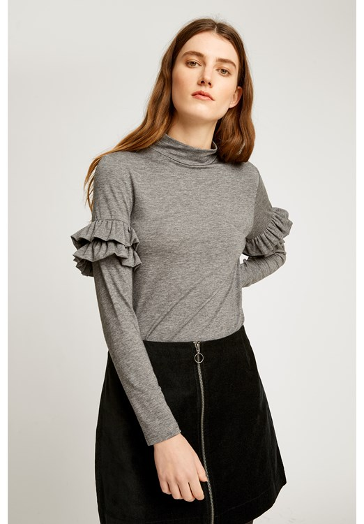 Cecilia Top in Grey Melange