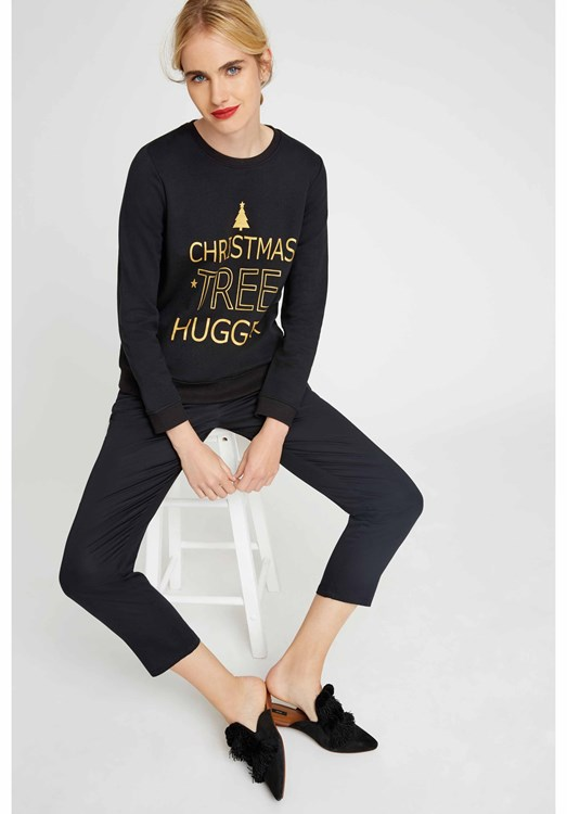 Christmas Tree Hugger Sweatshirt from People Tree