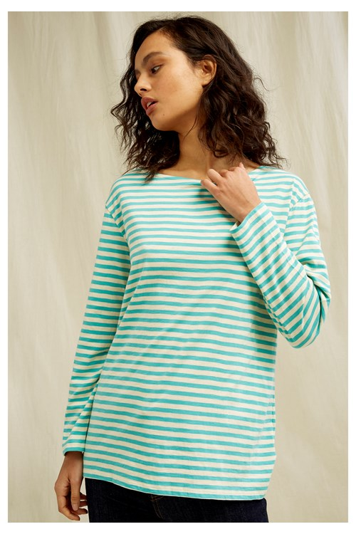 Darci Stripe Top In Green