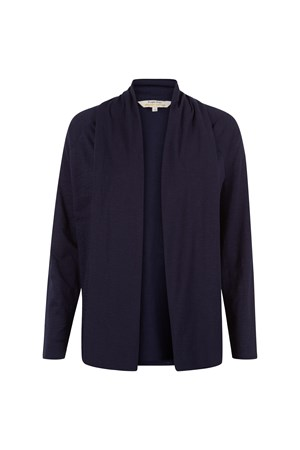 Elice Slub Cardigan in Navy