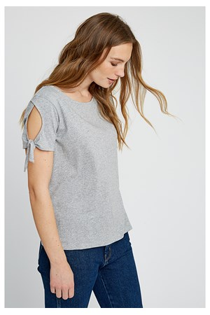 Emery Top in Silver Sleet