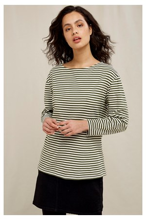 Emma Stripe Top In Green