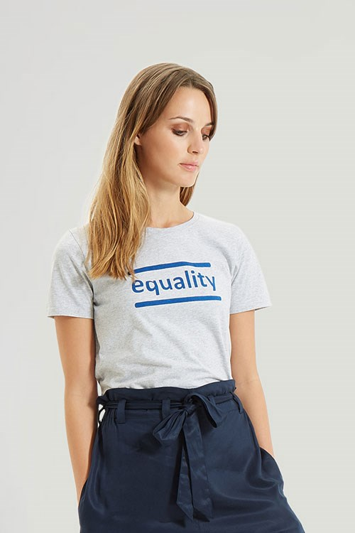 Equality Tee in Grey Melange