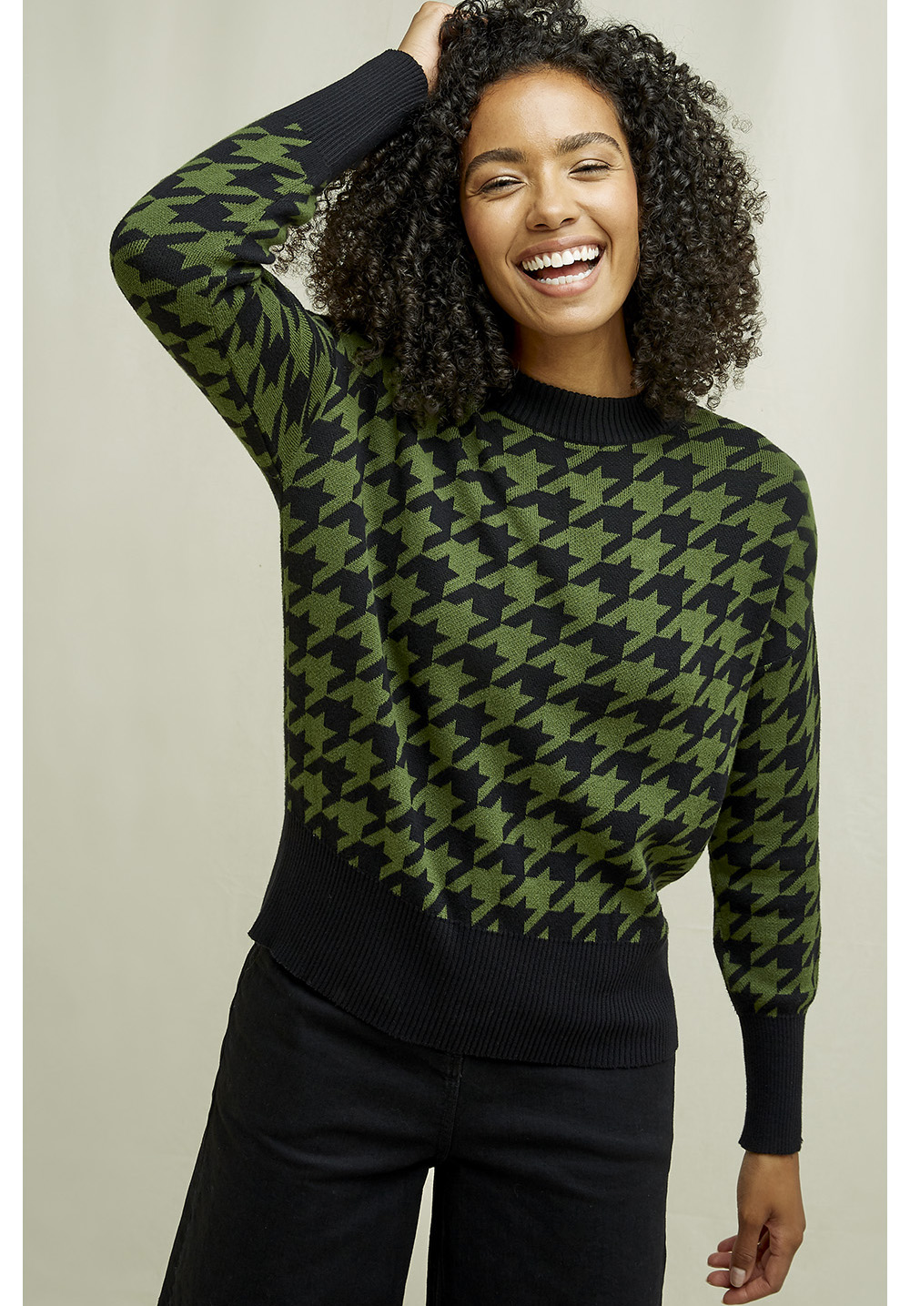 People Tree Esme Houndstooth Jumper
