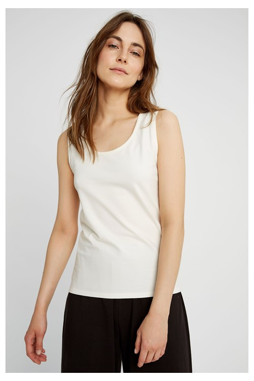 Lizzie Vest in White from People Tree