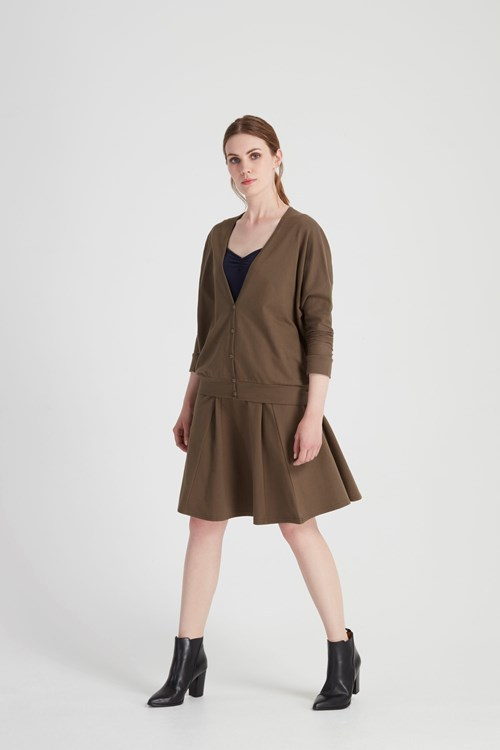Evonne Cardigan in Khaki