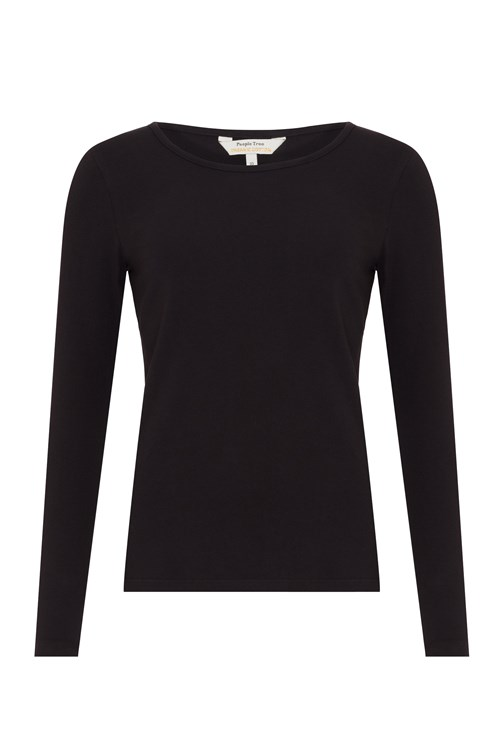marketable large discount superior performance Fallon Long Sleeve Top in Black