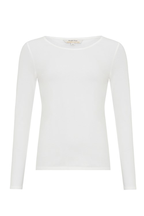 c0af34d3e028 Fallon Long Sleeve Top in White