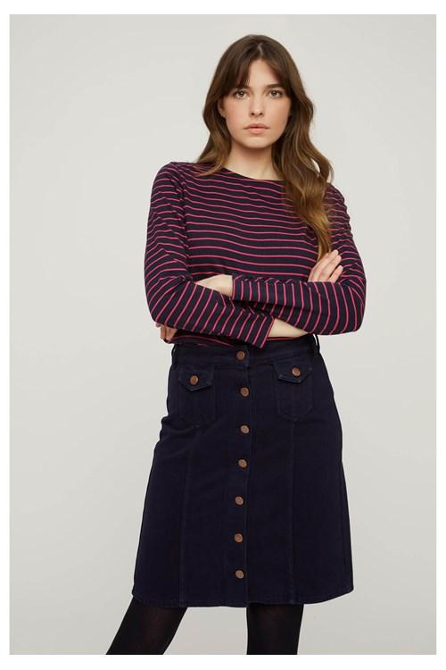 Felicity Stripe Top in Blue from People Tree