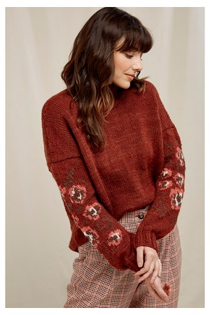 Flower Jacquard Jumper