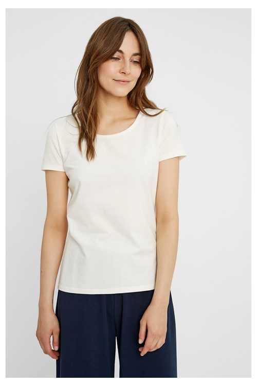 Gaia Tee in White from People Tree