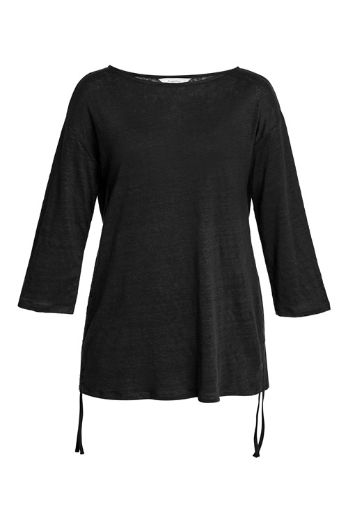 Giselle Linen Top in Black