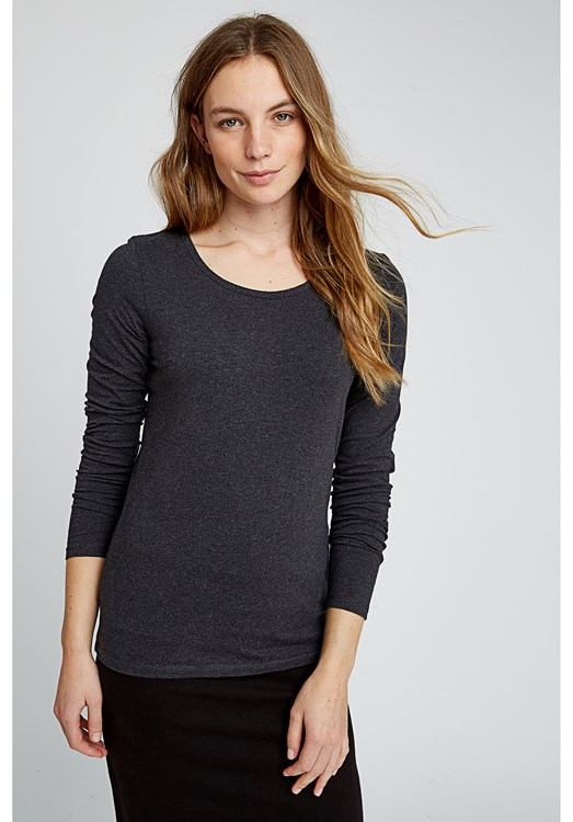 Fallon Long Sleeve Top in Grey