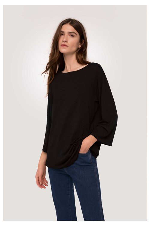 Hettie Tunic Top in Black from People Tree