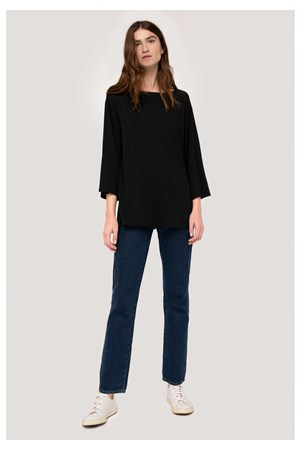 Hettie Tunic Top in Black