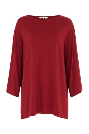 Hettie Tunic Top in Red