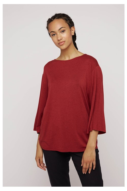 Hettie Tunic Top in Red from People Tree
