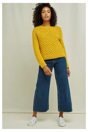 Honeycomb Jumper In Yellow