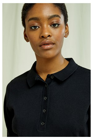 Isla Polo Top In Black