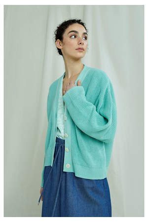 Jasmine Cardigan In Mint Green