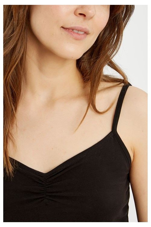 Jemma Camisole Top in Black from People Tree