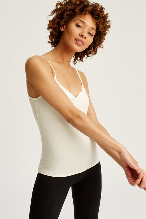 Jemma Camisole Top in Cream from People Tree