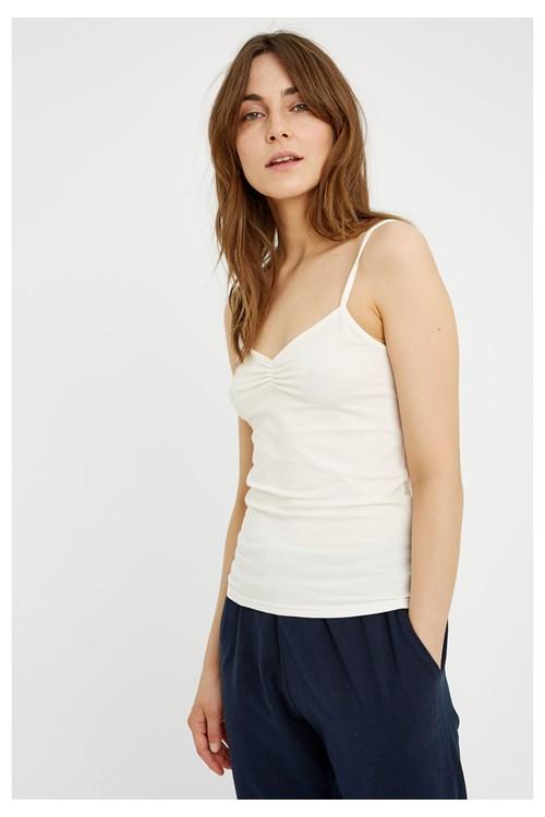 Jemma Camisole Top in White from People Tree