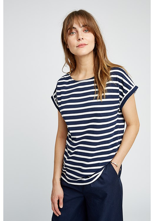 Jodie Stripe Top in Navy