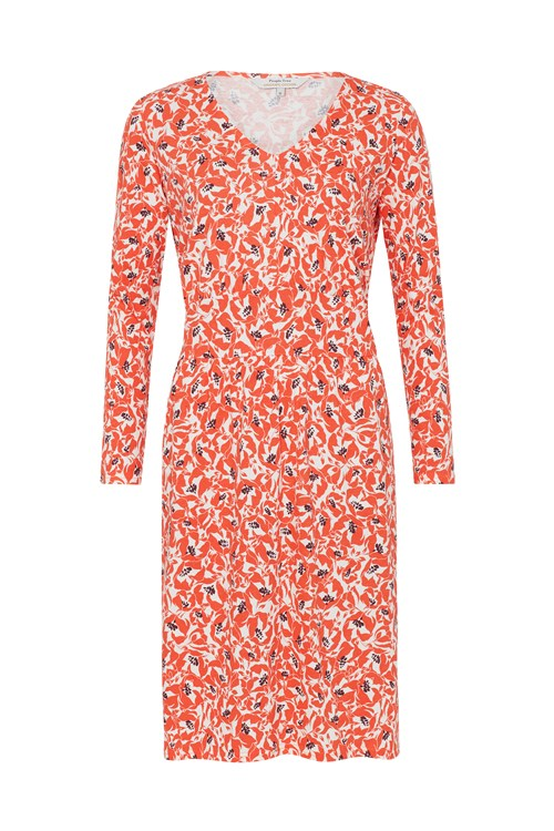 Keeley Orange Floral Dress