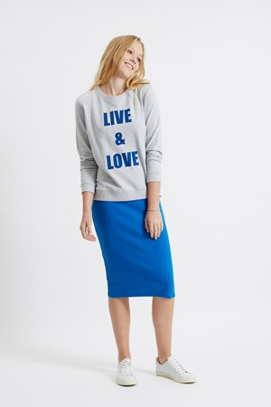 Live & Love Sweatshirt in Grey Melange