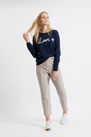 Love Heart Jumper in Navy