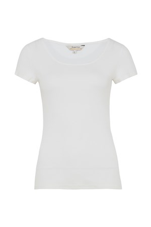Mabel Tee in Eco White
