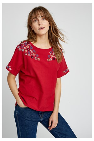 Mae Embroidered Top