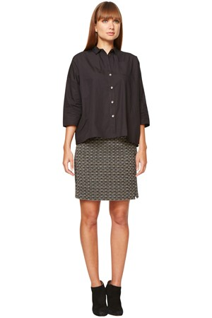 Miranda Pocket Shirt in Black